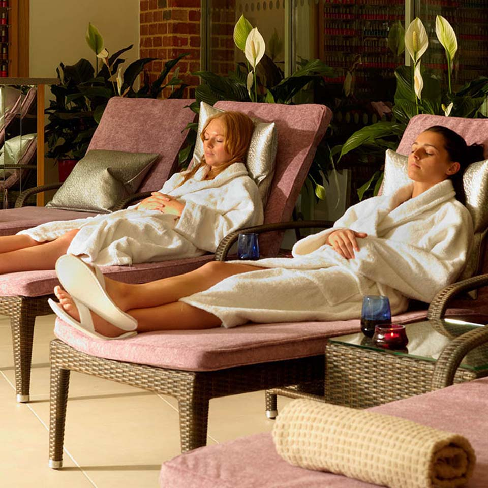 spa ladies on loungers