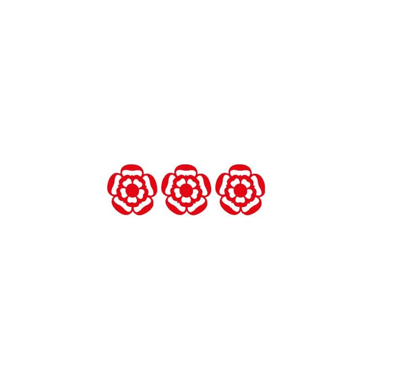 3 red rosettes logo
