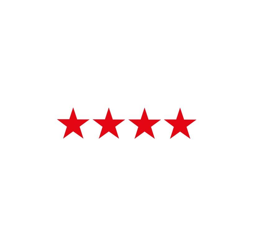 5 red stars AA