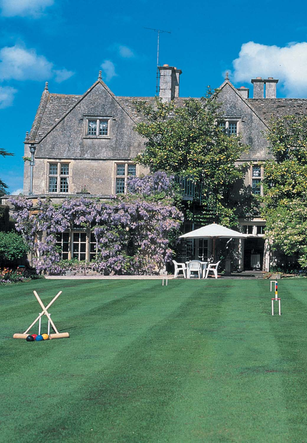 Corporate Team Days Cheltenham Croquet on lawn