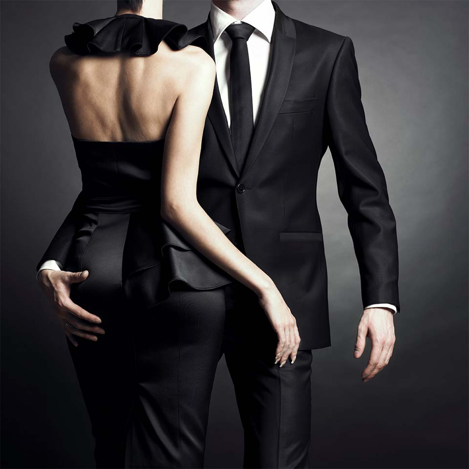 Couple black tie